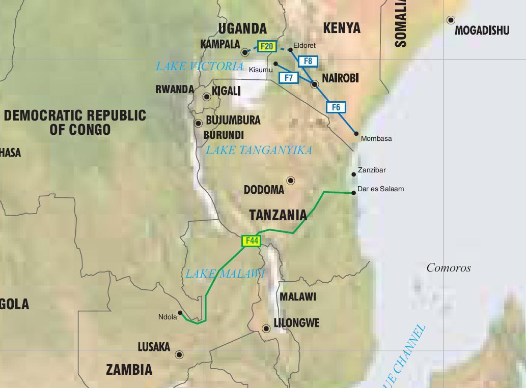 Mapas De Tuberias En Africa Oriental Kenia Uganda Tanzania Y