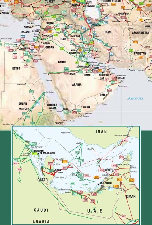 Energía. Producción, distribución. Cénit del petróleo, peak oil, fuentes, contradicciones, consecuencias. - Página 9 Middle_east_pipelines_map-t