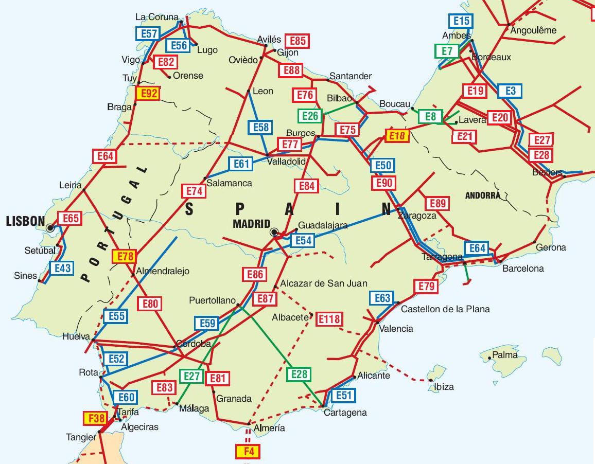 Las tuber as en espa a y portugal oleoductos tuber as for Gas natural malaga